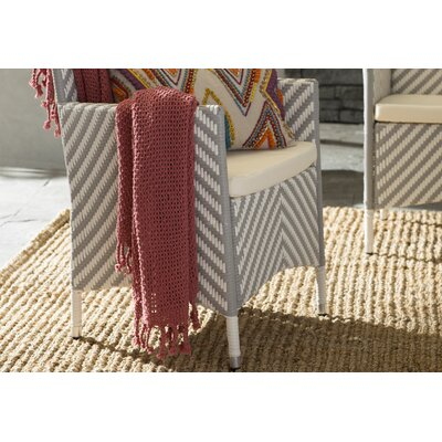 Buckhead Ridge Cotton Throw Blanket Color: Burgundy
