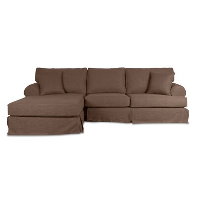Jacqueline Sectional Upholstery: Brown, Orientation: Left Hand Facing