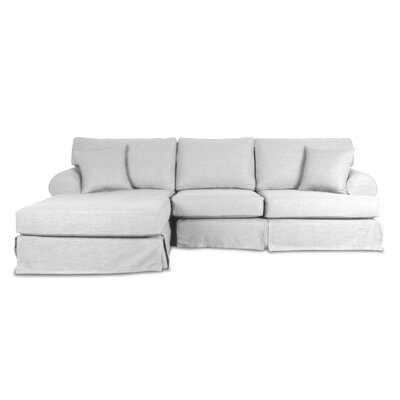 Jacqueline Sectional Upholstery: White, Orientation: Right Hand Facing