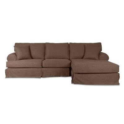 Jacqueline Sectional Upholstery: Charcoal, Orientation: Left Hand Facing
