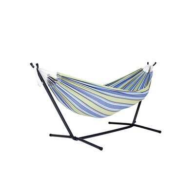 Dorinda Cotton Hammock with Stand Fabric: Oasis