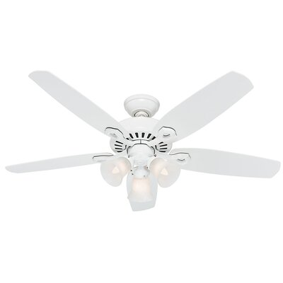 52 Builder Elite 5-Blade Ceiling Fan Finish: Snow White