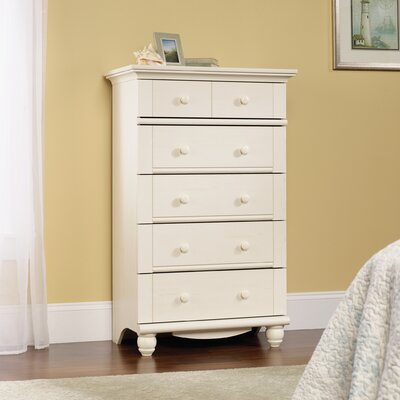 Pinellas 5 Drawer Chest Color: Antique White