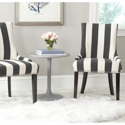 Gowanus Dining Chair Upholstery: Charcoal/White Stripe