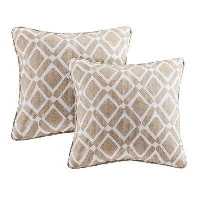 Annagrove Throw Pillow Color: Tan