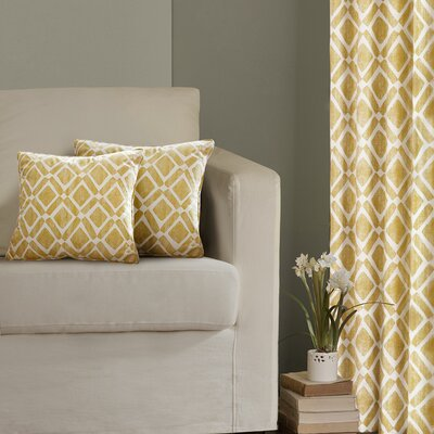 Annagrove Throw Pillow Color: Yellow