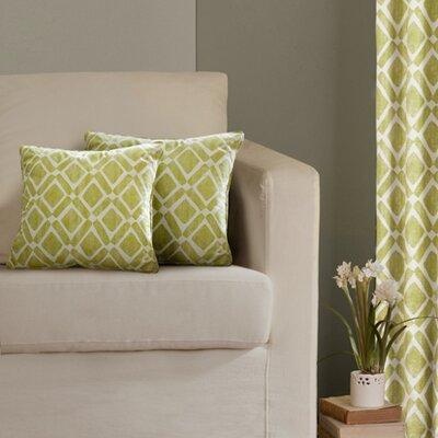 Annagrove Throw Pillow Color: Green
