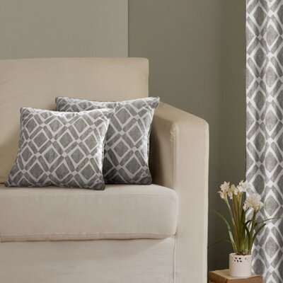 Annagrove Throw Pillow Color: Grey