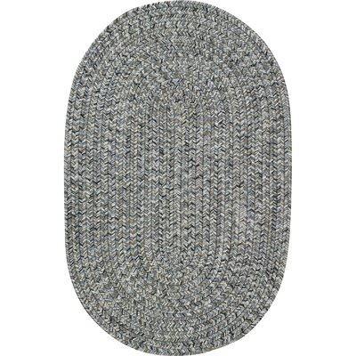 Lemon Grove Smoke Variegated Outdoor Area Rug Rug Size: Oval 114 x 144