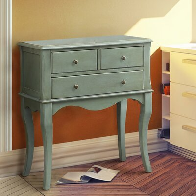 Garrett 3 Drawer Nightstand Finish: Antique Teal