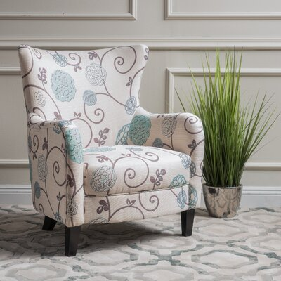 Nisha Fabric Club Chair Upholstery: Beige