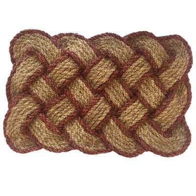 Melaney Lovers Knot Doormat Mat Size: 1 10 H x 3 W x 1 D, Color: Brown/Natural