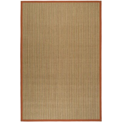 Greene Rust Area Rug with Wheat Trim Rug Size: Rectangle 3 x 5