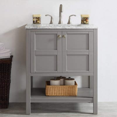 Caldwell 30 Single Bathroom Vanity Base Finish: Grey