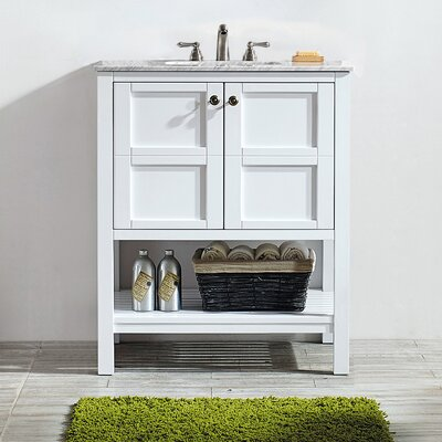 Caldwell 30 Single Bathroom Vanity Base Finish: White