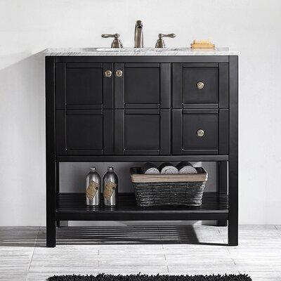 Caldwell 36 Single Bathroom Vanity Set Base Finish: Espresso