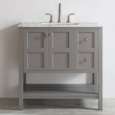 Caldwell 36 Single Bathroom Vanity Set Base Finish: Gray
