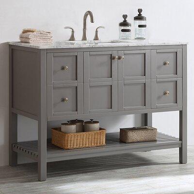 Caldwell 48 Single Bathroom Vanity Set Base Finish: Grey