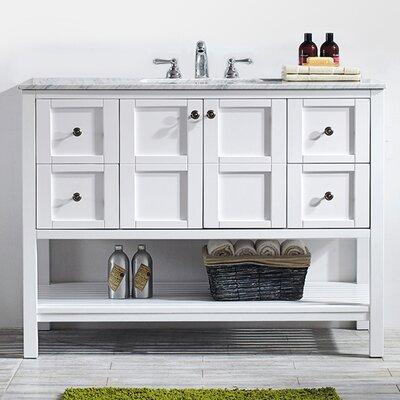 Caldwell 48 Single Bathroom Vanity Set Base Finish: White