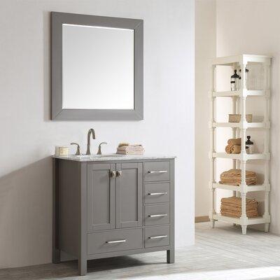Newtown 36 Single Vanity Set with Mirror Base Finish: Gray