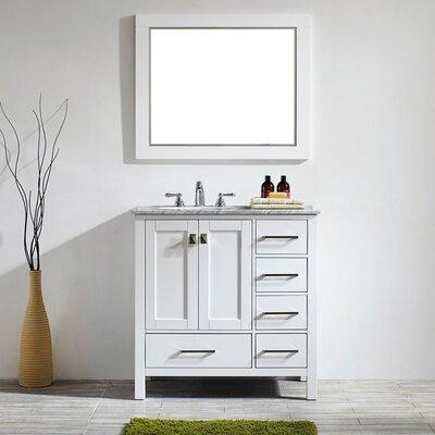 Newtown 36 Single Vanity Set with Mirror Base Finish: White
