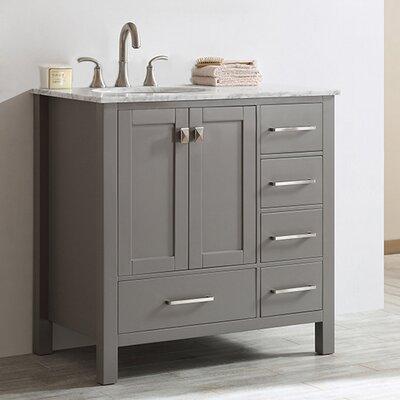 Newtown 36 Single Bathroom Vanity Set Base Finish: Gray