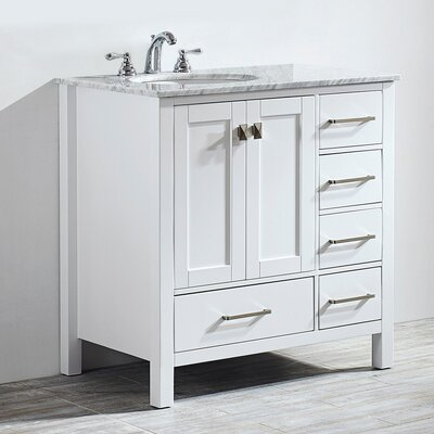 Newtown 36 Single Bathroom Vanity Set Base Finish: White