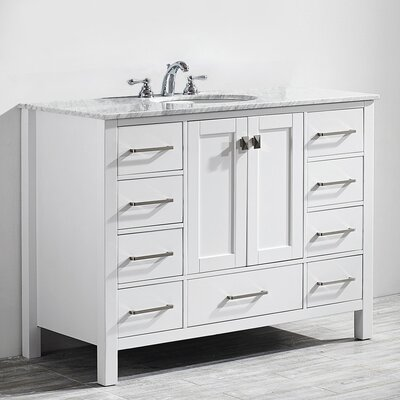 Newtown 48 Single Bathroom Vanity Set Base Finish: White