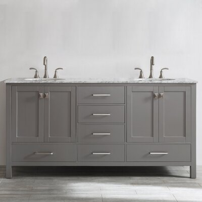 Newtown 72 Double Bathroom Vanity Set Base Finish: Gray