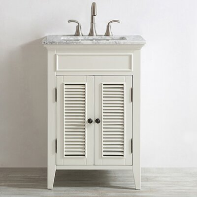 Grovetown 24 Single Vanity Set Base Finish: Antique White