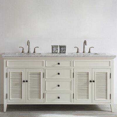 Grovetown 72 Double Vanity Set Base Finish: Antique White