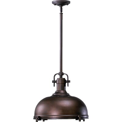 Lighthouse Point 1-Light Bowl Pendant Color: Oiled Bronze