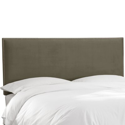 Burhardt Upholstered Panel Headboard Size: King, Upholstery: Pewter
