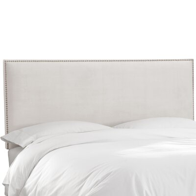 Burhardt Upholstered Panel Headboard Size: King, Upholstery: White
