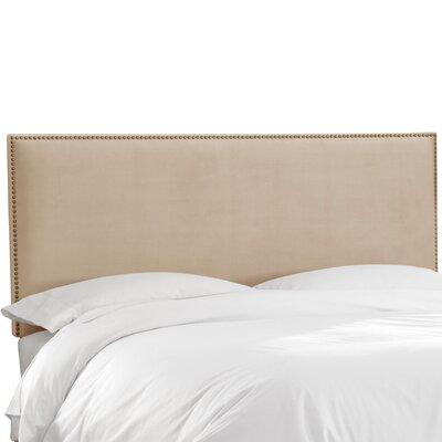 Burhardt Upholstered Panel Headboard Upholstery: Velvet Pearl, Size: Twin