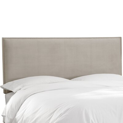 Burhardt Upholstered Panel Headboard Upholstery: Velvet Light Grey, Size: Queen