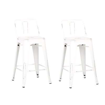 Derbyshire 24 Bar Stool Color: Distressed White
