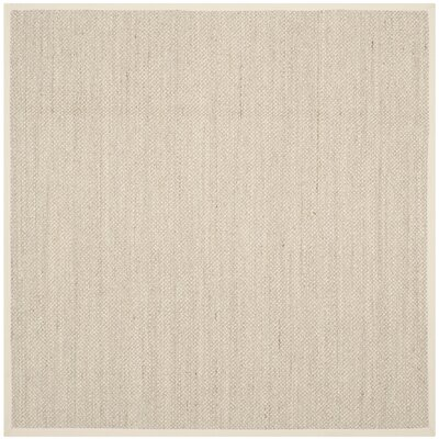 Monadnock Marble/Beige Area Rug Rug Size: Square 8