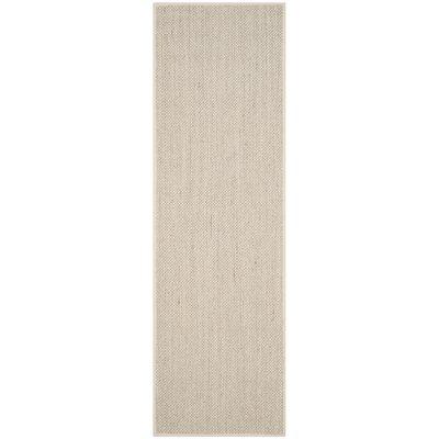 Monadnock Marble/Beige Area Rug Rug Size: Runner 26 x 14