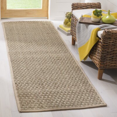 Richmond Hand-Woven Natural/Beige Area Rug Rug Size: Runner 26 x 8