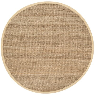 Calidia Hand-Loomed Gold Area Rug Rug Size: Square 5