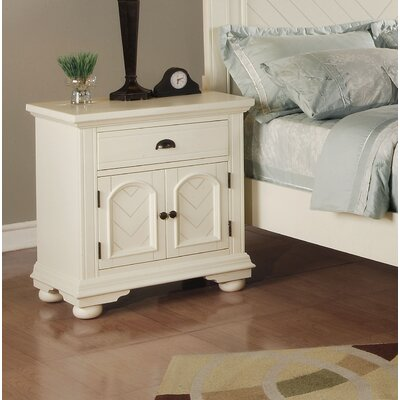 Tarquin 1 Drawer Nightstand Color: White