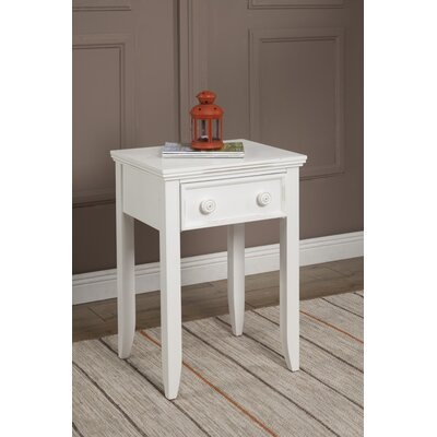 Baileyville 1 Drawer Nightstand Color: White
