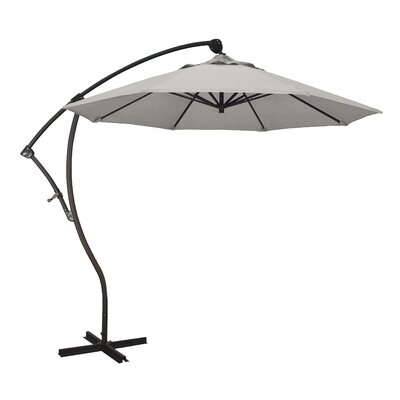 ShoppingCadeaux.com view picture of April 9' Cantilever Umbrella Fabric Color: Sunbrella - Granite