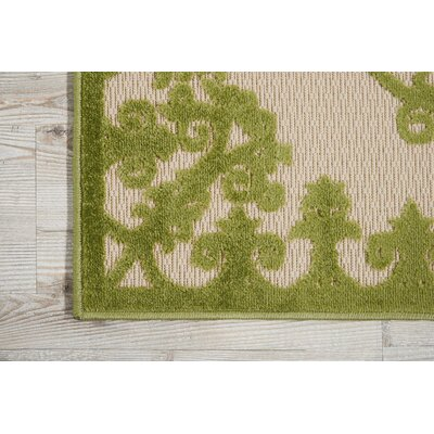 Farley Green Indoor/Outdoor Area Rug Rug Size: Rectangle 36 x 56