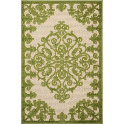 Farley Green Indoor/Outdoor Area Rug Rug Size: Rectangle 28 x 4