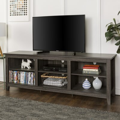 Sunbury 70 TV Stand with optional Fireplace Color: Charcoal, Fireplace Included: No