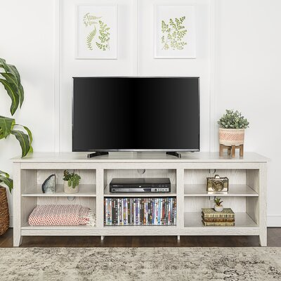 Sunbury 70 TV Stand with optional Fireplace Color: White Wash, Fireplace Included: No