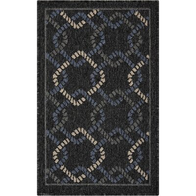 Kittrell Charcoal/Blue/Gray Indoor/Outdoor Area Rug Rug Size: Rectangle 19 x 29