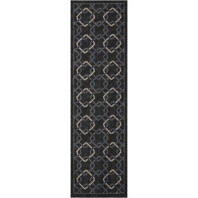 Kittrell Charcoal/Blue/Gray Indoor/Outdoor Area Rug Rug Size: Runner 23 x 76